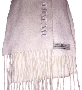 Burberry Cream Burberry Embroidered Cashmere Scarf