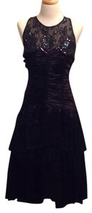 Jessica McClintock Vintage Sequin Polyester Crisscross Strap Formal Dress
