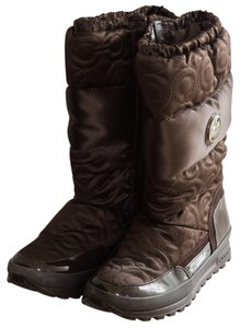 Coach Snow Winter Warm Brown Boots