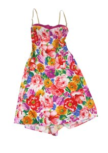 Dolce&Gabbana Floral Print Cotton Bustier Dress