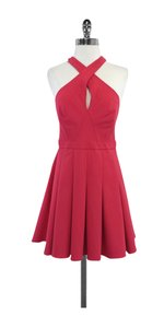 Nicole Miller short dress Pink Neckline Halter on Tradesy