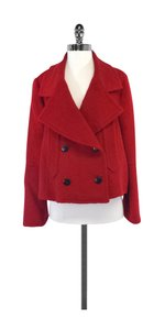 Giorgio Armani Red Wool Blend Coat