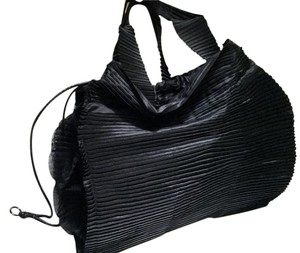 Issey Miyake Pleats Please Evening Satchel in Black