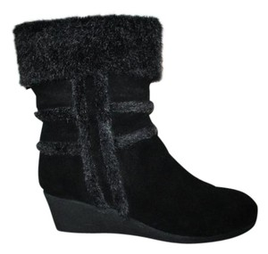 Easy Spirit Leather Suede Mid Calf black Boots