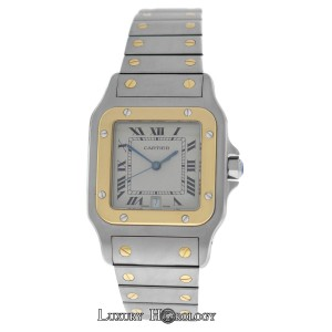 Cartier Mint Unisex Cartier Santos Galbee 187901 Quartz Steel 18K Gold 29MM