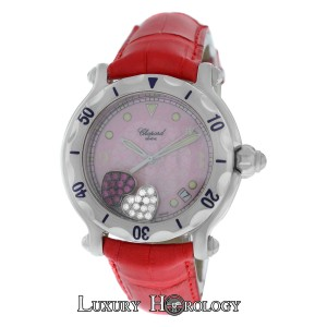 Chopard Mint Ladies Chopard Happy Sport 28/8950 Floating Hearts Diamond