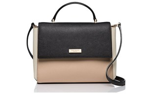 Kate Spade Rose Paterson Satchel in affogato/black
