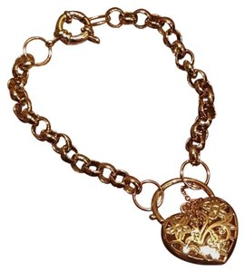 Gold Filled Heart Bracelet 8.7
