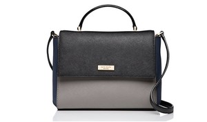 Kate Spade Rose Paterson Satchel in hare grey/ black