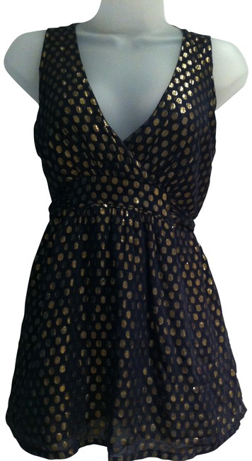 Preload https://item5.tradesy.com/images/french-connection-blackgold-blouse-size-4-s-199129-0-0.jpg?width=400&height=650