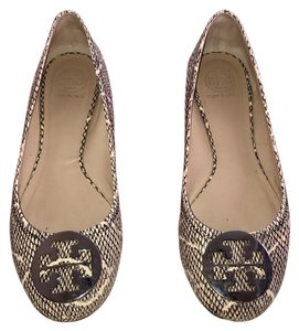 Tory Burch Black, white, gray and silver Flats