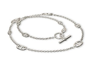 Herms Impressive Below $1551 Retail Hermes Farandole 80cm Silver Necklace