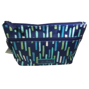 Vera Bradley Katalina Showers Lighten Up Travel Cosmetic Large Zip Case Pouch Bag