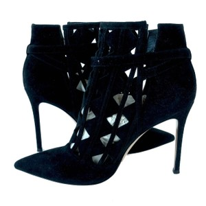 Gianvito Rossi Ankle Suede Ankle Cutout Ankle Black Boots