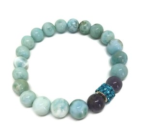 Alicia Eche Sky Blue Larimar Stretch Bracelet