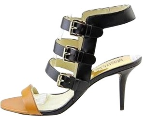 Michael Kors Strappy Leather Peanut/Black Sandals