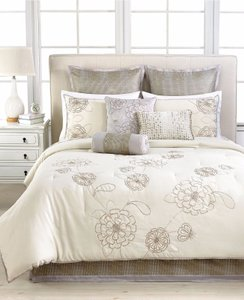 Martha Stewart Calendula 9 Piece Comforter Set - King