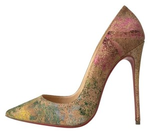 Christian Louboutin So Kate Floral Cork Nude Pumps