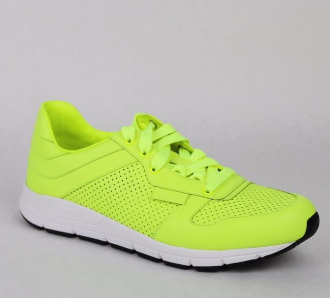Item - Yellow Leather Lace-up Running Sneakers 6 G/ Us 6.5 369088 7102 Shoes