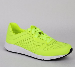 54865ea721a Gucci Yellow Leather Lace-up Running Sneakers 8 G  Us 8.5 369088 7102 Shoes