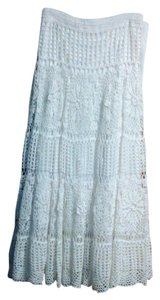 FORWEAR of NEW YORK Vintage Crochet Skirt White