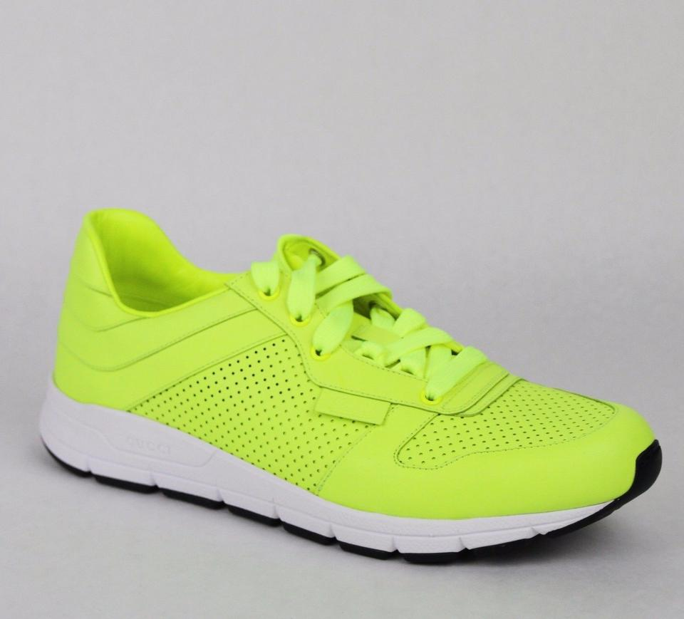 d5d9f23f13d Gucci Yellow Leather Lace-up Running Sneakers 12 G  Us 12.5 369088 7102  Shoes ...