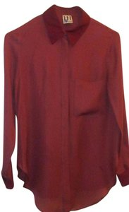 Haute Hippie The Husband Peonie Top Maroon