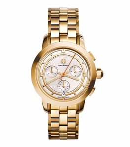 Tory Burch Tory Watch, Gold-Tone/Ivory Chronograph, 37 MM