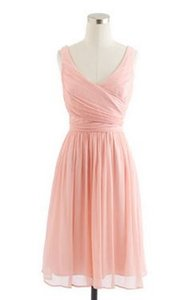 J.Crew Misty Rose Silk Chiffon Heidi Traditional Bridesmaid/Mob Dress Size 6 (S)