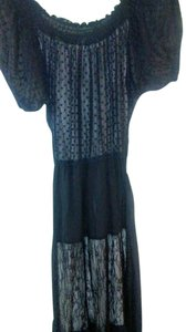 Black and beige Maxi Dress by Haute Hippie Womens Lace