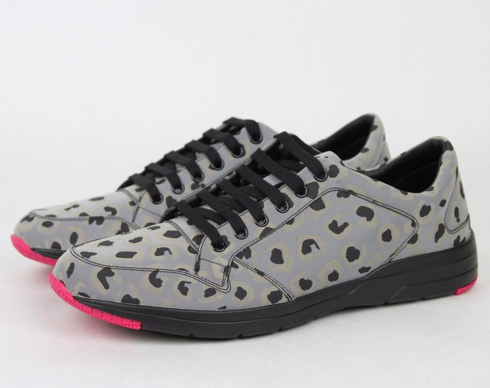 f3ef7048d19c Gucci Gray Reflex Leopard Print Running Sneakers 8 G/ Us 8.5 368485 1400  Shoes Image. 123456789