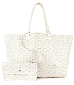 Goyard Tote in White & Gray