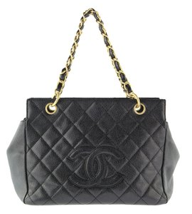 Chanel Cavier Like New Tote in Black