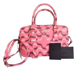 Prada Bauletto Satchel in Pink