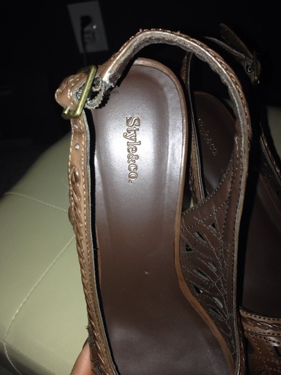 Style & Co Brown Wedges