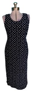 Black and white Maxi Dress by R&K Originals Floral Rayon