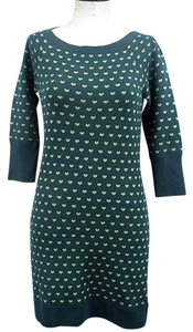 Juicy Couture short dress Hunter Green & White Sweater Lambswool on Tradesy