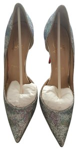 Christian Louboutin Gold Silver/Gold Glitter Pumps