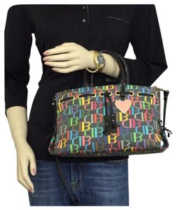Dooney & Bourke Satchel in Black/Multi
