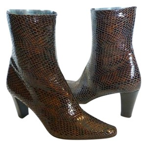 Aquatalia by Marvin K. Patent Leather Brown Boots