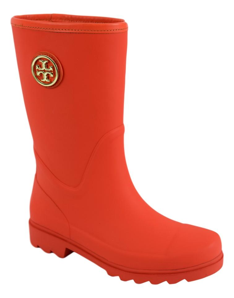 bd508d0a5bf8 Tory Burch Rainboots Rain Maureen Orange (Poppy Red) Boots Image 10.  1234567891011