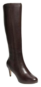 Cole Haan Knee High Leather Tall Boot Dark Dull Gray Greige Boots