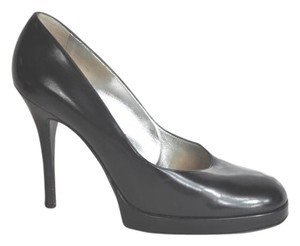 Dolce&Gabbana Rounded Toe Hidden Platform Black Pumps