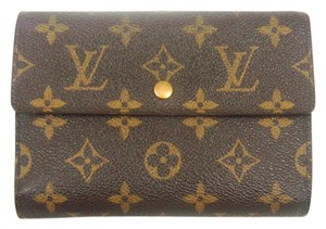 Louis Vuitton Continental Monogram Canvas Leather Clutch Trifold Wallet w/ Dustbag