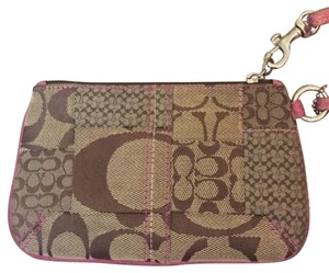 Coach Wristlet in Pink & Brown