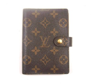 Louis Vuitton Agenda PM Monogram Canvas Leather Notebook Planner Cover w/ Tags