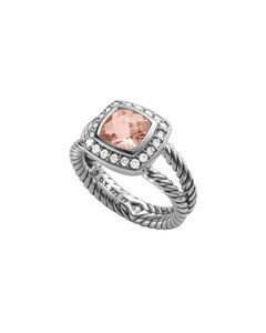 David Yurman Petite Albion Ring with Morganite and Diamonds New!!!