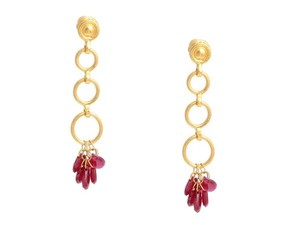 GURHAN Ruby & 24K Gold Drop Earrings