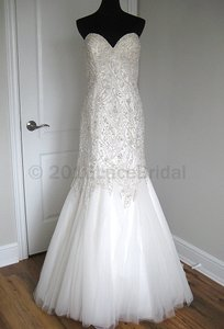 Allure Bridals Ivory/Silver Tulle C227 Formal Wedding Dress Size 10 (M)