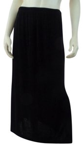 Softwear Petites New Stretchy Column Petites Maxi Skirt Black